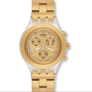 Swatch watch - gold SKCK4032G circa early 2000's